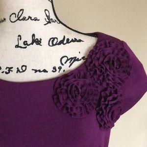 Jessica Howard Purple Dress Floral Detail   sz 8